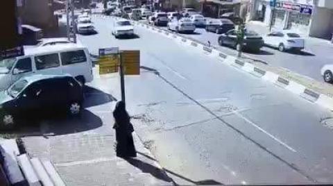 نجاة امرأة من حادث دهس محقق في مدينة سخنين